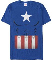 marvel men's captain america suit costume short sleeve t-shirt