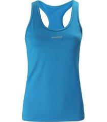 camiseta básica, con aplique reflectivo color turquesa para mujer