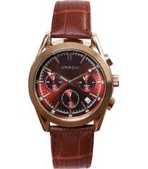 reloj formal marrón arrow