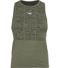 ubf myoknit tank t-shirts & tops sleeveless grön reebok performance