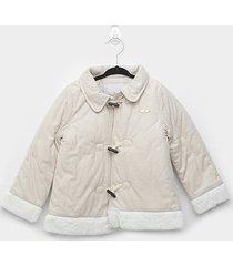 casaco infantil milon suede feminino