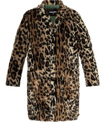 coat with leopard print