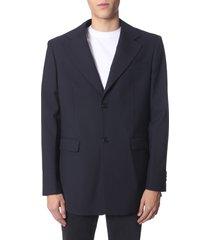 raf simons single-breasted jacket