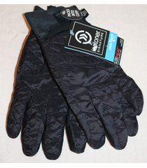 isotoner signature s/m smartouch tech black sleekheat packable ski gloves new