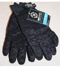 isotoner signature s/m smartouch tech black sleekheat packable ski gloves new