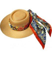sombrero toquilla vichuquén amarillo viva felicia