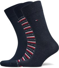 th men sock 3p logo giftbox underwear socks regular socks blå tommy hilfiger
