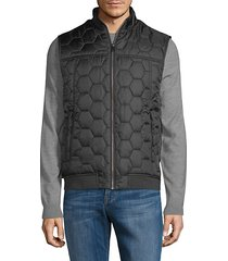 honeycomb quilted puffer vest
