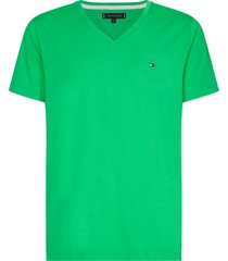t-shirt manga corta cuello v verde tommy hilfiger