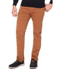 pantalon café preppy 5 bolsillos  98%alg 2%elastano bota 19
