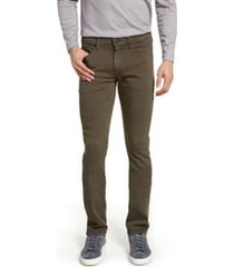 men's paige transcend lennox slim tapered leg five pocket pants, size 38 - green