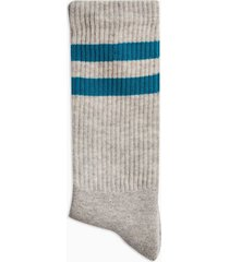 mens multi green and grey stripe tube socks