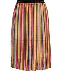 skirt in plissé and multi color pri knälång kjol multi/mönstrad coster copenhagen