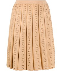 sandro paris sabie beaded skirt - neutrals