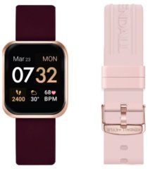 women's kendall + kylie merlot and blush straps smart watch set 36mm