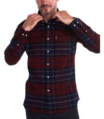barbour men's lustleigh classic-fit tartan shirt