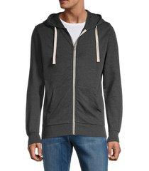 jack & jones men's holmen zip-up sweatshirt - dark grey - size s