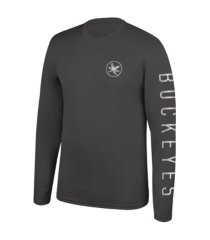 top of the world ohio state buckeyes men's reflective chrome long sleeve t-shirt