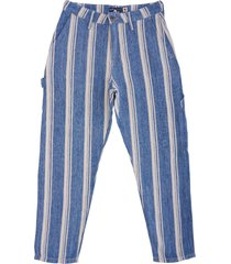 levi's made & crafted draft carpenter trousers - linen stripe 67526-0000