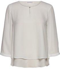 blouse 3/4-sleeve blus långärmad vit gerry weber