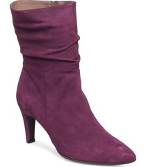 m-2073 shoes boots long ankle boots with heel lila wonders