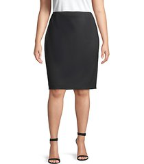 plus stretch wool pencil skirt