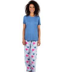 pijama estampado homewear azul | 589.076