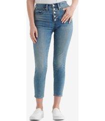lucky brand bridgette button-fly skinny jeans