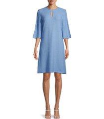 st. john women's key hole dress - blue - size 10