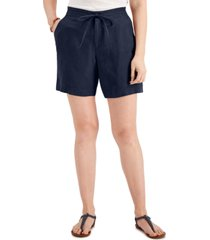 charter club petite linen shorts, created for macy's