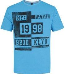 camiseta fatal estampada 20251 - masculina - azul claro