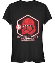 star wars women's rise of skywalker power of the darkside red trooper t-shirt