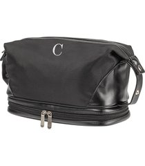 cathy's concepts monogram toiletry bag, size one size - black c