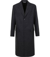 valentino wool coat with optical pattern