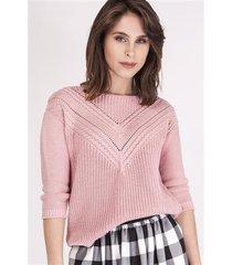 sweter penny swe 041 pudrowy roz