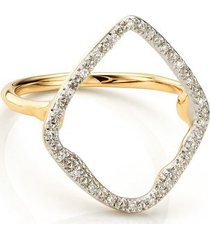gold riva hoop cocktail ring diamond