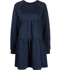 cynthia rowley vail smocked swing dress - blue