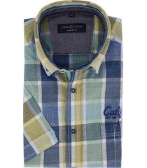 casa moda overhemd casual fit geruit