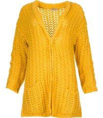 grofgebreid vest charly  geel
