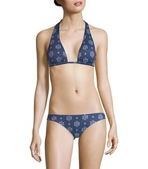 buena vista lennon printed bikini top