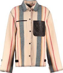 loewe wool buttons jacket