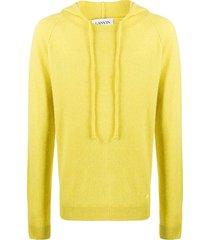lanvin fine knit hoodie - yellow