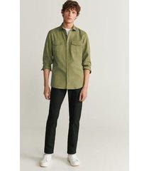 regular-fit overhemd met zakken