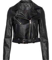 onlvalerie faux leather jacket cc otw läderjacka skinnjacka svart only