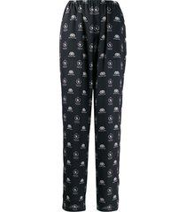 balenciaga world food programme pajama trousers - black