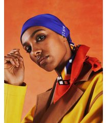 tommy hilfiger women's tommyxromeo bandana blue -