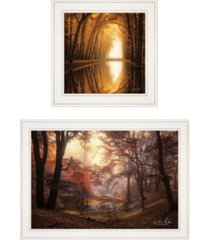 "trendy decor 4u nature's reflections 2-piece vignette by martin podt, white frame, 27"" x 15"""