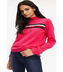 sweater cuello perkins rosado tommy hilfiger