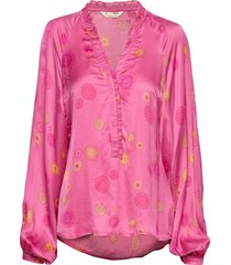 to love blouse blouse lange mouwen roze odd molly