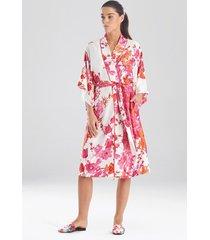 natori bloom sleep & lounge bath wrap robe, women's, size l